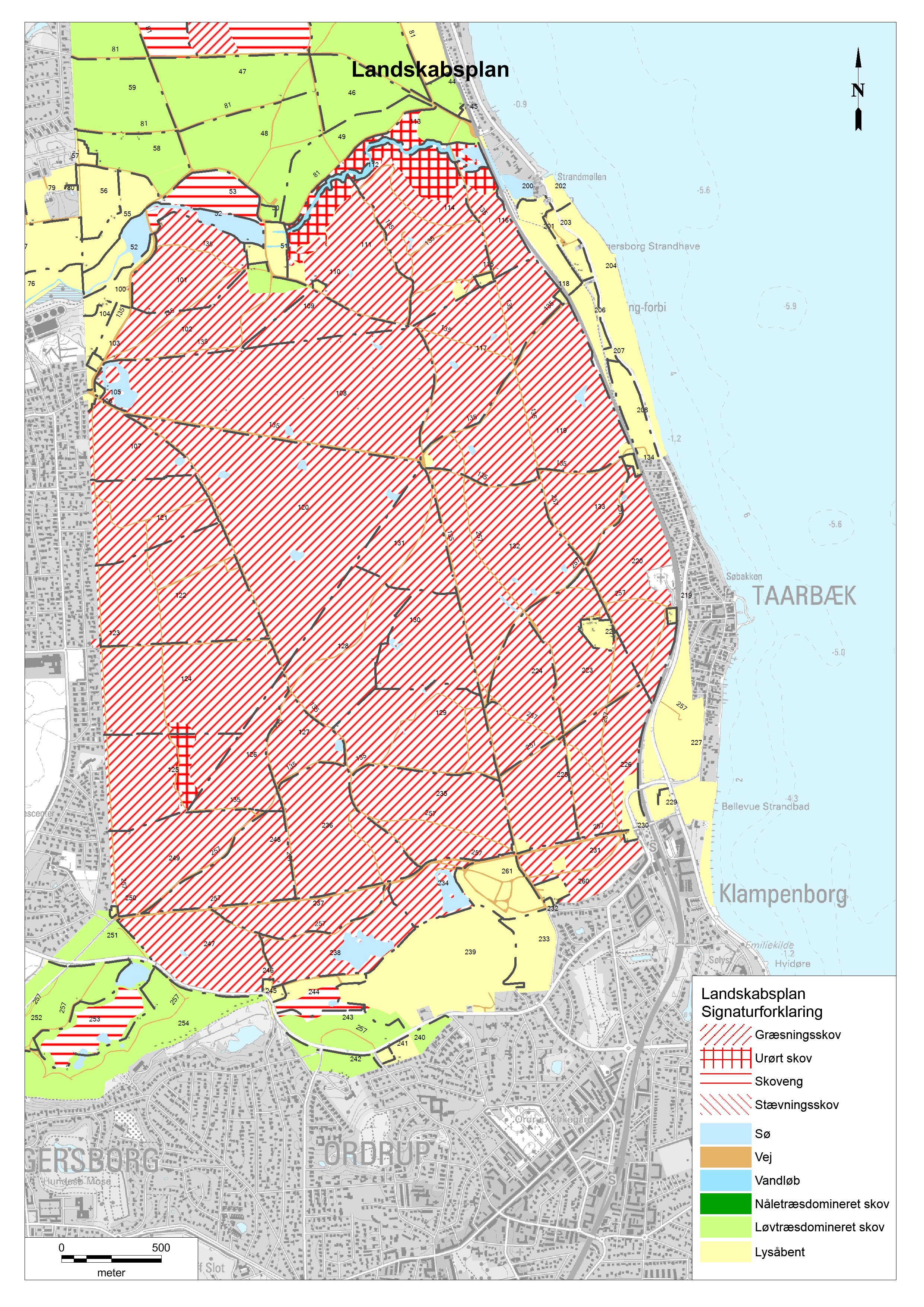 kort over dyrehaven ulvedalene