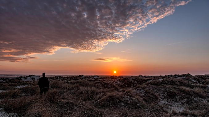 Solnedgang over Vadehavet. Foto: Frank Bach, Colourbox