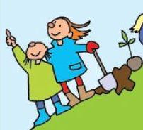 Små børn planter tegning eva wulff